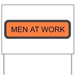 Men At Work Sign 1 Yard Sign