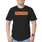 Men At Work Sign 1 Men's Fitted T-Shirt (dark)