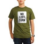 No Left Turn Sign Organic Men's T-Shirt (dark)