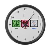 Peace love science with numbers Giant Clocks