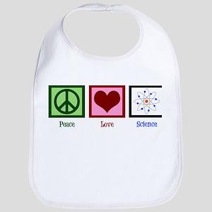Peace Love Science Cotton Baby Bib