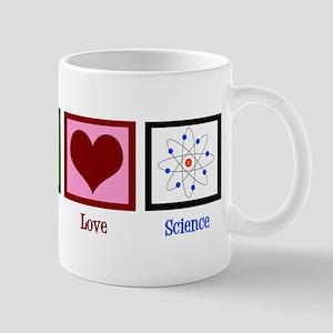 Peace Love Science 11 oz Ceramic Mug
