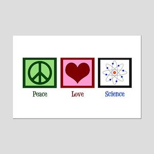 Peace Love Science Mini Poster Print