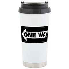 One Way Sign - Left - Stainless Steel Travel Mug
