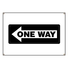 One Way Sign - Left - Banner