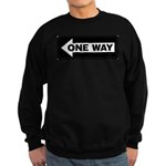 One Way Sign - Left - Sweatshirt (dark)