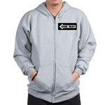 One Way Sign - Left - Zip Hoodie