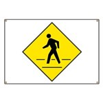 Pedestrian Crosswalk Sign Banner
