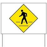 Pedestrian Crosswalk Sign Yard Sign