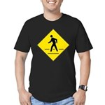 Pedestrian Crosswalk Sign Men's Fitted T-Shirt (da