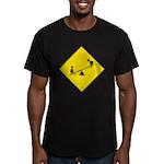 Playground Sign Men's Fitted T-Shirt (dark)