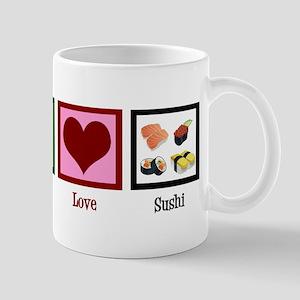 Peace Love Sushi Mug