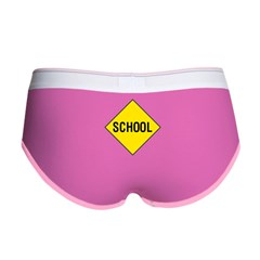School Sign Women's Boy Brief