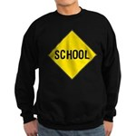 School Sign Sweatshirt (dark)