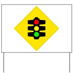 Traffic Light Yard Sign