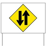 Two Way Traffic Yard Sign