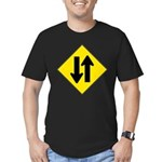 Two Way Traffic Men's Fitted T-Shirt (dark)