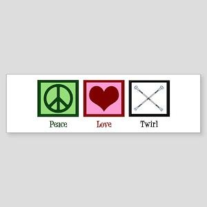 Peace Love Twirl Sticker (Bumper)