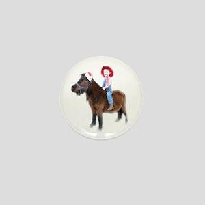 Santa Mini Horse Mini Button