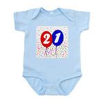 21st Birthday Infant Bodysuit