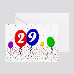 29th Birthday Greeting Card