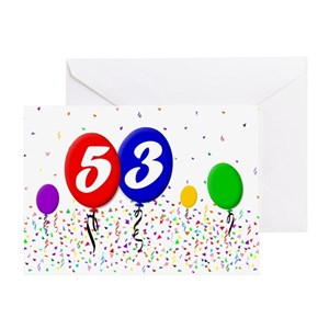 53rd birthday greeting cards cafepress m4hsunfo
