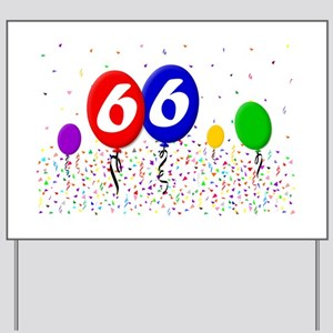 66th Birthday Yard Sign