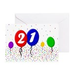 21st Birthday Greeting Cards (Pk of 20)