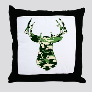 BUCK IN CAMO Throw Pillow