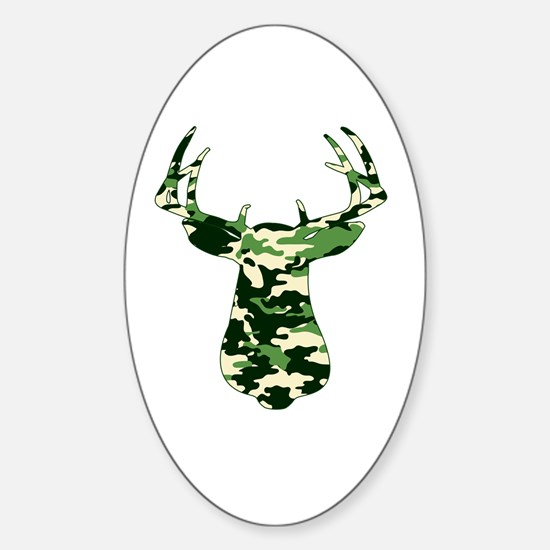 BUCK IN CAMO Sticker (Oval)