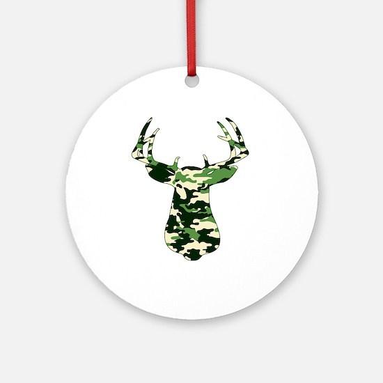 BUCK IN CAMO Ornament (Round)