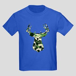 BUCK IN CAMO Kids Dark T-Shirt