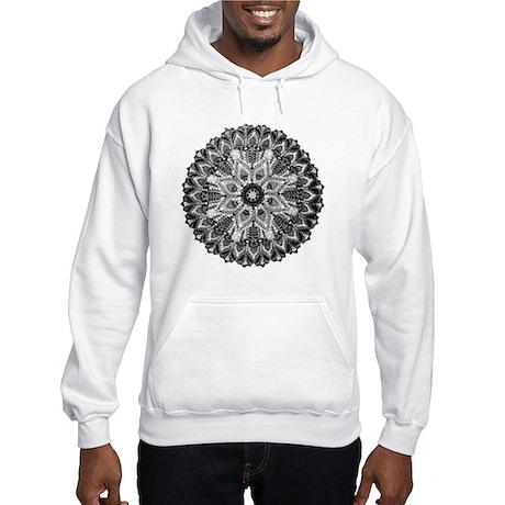 Mandala - B&W Hooded Sweatshirt