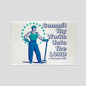 Commit Thy Works Rectangle Magnet