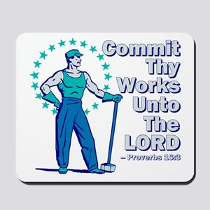 Commit Thy Works Mousepad