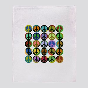 Cool Peace Signs Throw Blanket