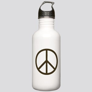 Cool Vintage Peace Sign Stainless Water Bottle 1.0