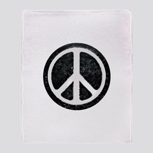Original Vintage Peace Sign Throw Blanket