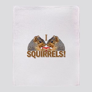 I Heart / Love Squirrels! Throw Blanket