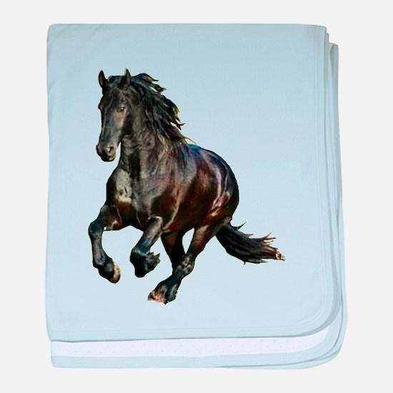 Black Stallion Horse baby blanket