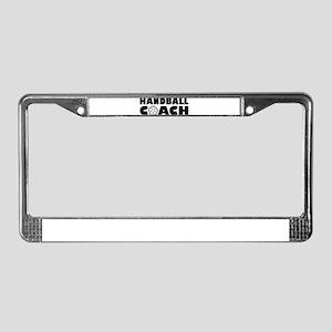 Handball coach License Plate Frame
