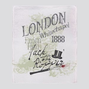 Jack the Ripper London 1888 Throw Blanket