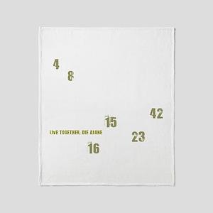 LOST numbers Throw Blanket