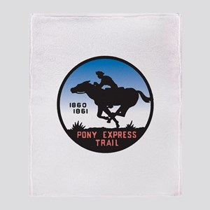 The Pony Express Throw Blanket