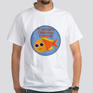 Daddy's Fishing Buddy White T-Shirt