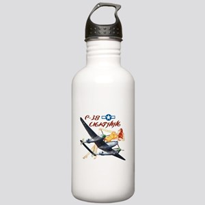 P-38 airplane and pinup Stainless Water Bottle