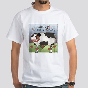 Wise Old Cow White T-Shirt