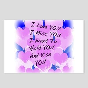 I LOVE U I MISS U Postcards (Package of 8)