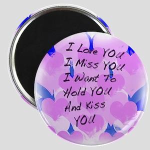 I LOVE U I MISS U Magnet