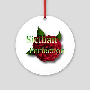 Sicilian Perfection Ornament (Round)